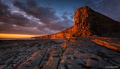 Nash Point (technodean2000) Tags: sunset wales point landscape nikon rocks south cliffs nash lightroom d5200