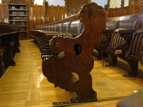 Row of seats in Subotica Town Hall