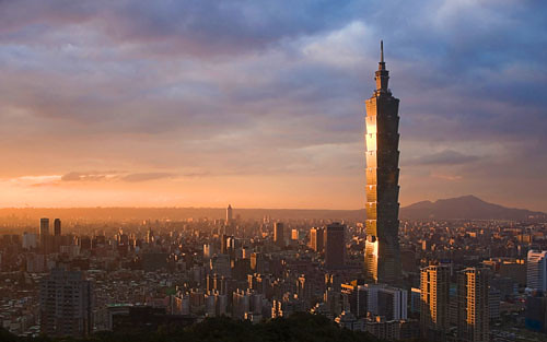 台北101, 台灣台北 (Taipei 101 and skyline, Taipei, Taiwan)