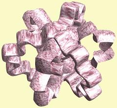 6 Tori /  (TANAKA Juuyoh ()) Tags: texture design 3d code cg pattern graphic structure symmetry figure program torus mapping algorithm mathematica   abstruct        parametricplot3d