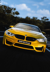 BMW M4 Coupé (nbdesignz) Tags: 6 hot sexy cars beautiful beauty car yellow digital photoshop edited sony bmw gran turismo m4 edit coupé lightroom gt6 polyphony ps3 playstation3 gtplanet nbdesignz