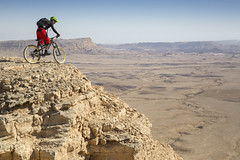 IMG_1908_bike riding_ Negev_16_Alon Ron_IMOT (Israel_photo_gallery) Tags: people mountain mountains nature bike sport israel desert leisure recreation negev region bycicle ramoncrater bikerider mitzpehramon alonron activesports