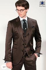Italian bespoke brown men wedding suit 1317 Ottavio Nuccio Gala (CMGala) Tags: wedding red groom suits label collection gentleman