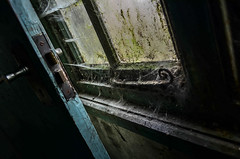 URBEX - Bridge Hotel (karllaundon) Tags: history abandoned window architecture hospital handle closed decay corridor care derelict remains cobwebs webs damp clerical