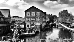 The Paper Mill (trevorfrenchphotography) Tags: blackandwhite water monochrome buildings canal hertfordshire grandunioncanal blackandwhitephotography waterreflections hemelhempstead apsley