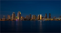 """""""America's Finest City"""" (Waldemar*) Tags: california city urban usa night buildings nikon downtown cityscape sandiego metro center citylights convention hotels bluehour westcoast highrises afs1635mmf4gvr d800e"""