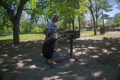 BBQ at Vincent Macey Park, Ottawa 2015 (lezumbalaberenjena) Tags: park parque ontario canada river back ottawa vincent bbq barbecue melon parc rideau hogs 2016 masey ermelon