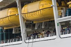 Arrival of a big cruise ship 8 (kmmanaka) Tags: japan nagasaki cruiseship fog rain harbor internationalterminal rose