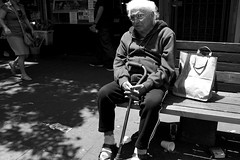 old man (vhines200) Tags: sanfrancisco blackandwhite elderly carnaval missiondistrict 2016