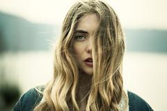 Nowhere (la_cla25) Tags: light portrait lake girl beautiful beauty hair lago eyes wind bokeh lips occhi ritratto luce vento capelli labbra