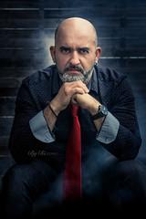 DSC_2529 (rix1284) Tags: man colour beard model colours bare smoke models bald tie necktie homme fumes fume baldheaded