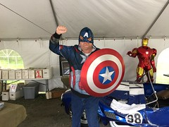 "Scott with the Screen Used Captain America Shield • <a style=""font-size:0.8em;"" href=""http://www.flickr.com/photos/28558260@N04/26817093000/"" target=""_blank"">View on Flickr</a>"