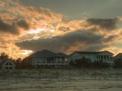 Sky on Fire (Cocoabiscuit) Tags: ocean beach evening olympus shore delaware bethanybeach em5 cocoabiscuit