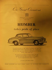 DSCF2394 (Enough with the peanuts already) Tags: 1950s humber motor car advertising rootes super snipe style byappointment royal crest