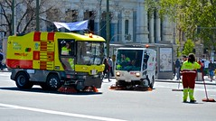 After the parade, street cleaners, parade, May 1, (David McSpadden) Tags: streetsweeper streetcleaner