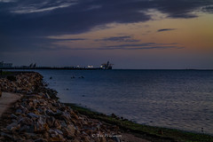 St Kilda Evening (johnwilliamson4) Tags: blue sunset orange seascape australia adelaide southaustralia stkilda breakwater