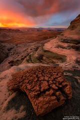 Fire Rock (Aron Cooperman) Tags: sunset usa southwest nature landscape outdoors utah sandstone rocks desert az page navajo escalante grandstaircase arziona wbpa nikon1424 nikond800 studhorsepoint aroncooperman openlightphoto april2016 escaype
