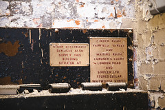 signs of decay (I AM JAMIE KING) Tags: signs texture sign architecture manchester fire paint decay rusty explore firestation dust derelict flaky crusty patina develop redevelop londonroadfirestation