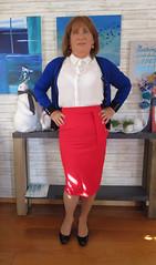 Red Skirt (Trixy Deans) Tags: hot cute sexy classic tv cd crossdressing tgirl tranny transvestite transgendered crossdresser crossdress skirts sexylegs transsexual classy redskirt trixy sexyblonde tgirls xdresser sexyheels crossdreeser trixydeans sexytransvestite