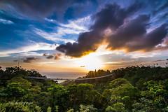 (saxon.huang) Tags: bridge trees sunset sky cloud mountain clouds dark landscape nikon suspension  jungle  choi 1224mm   d610