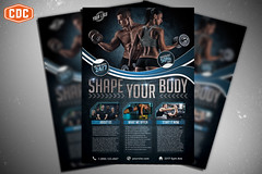Gym & Fitness Preview 1 (Crosstown Design Co.) Tags: sports sport poster design flyer graphic personal business health fitness gym template trainer gymnastic posterdesign flyerdesign flyertemplate
