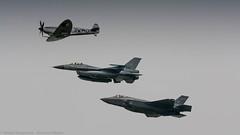 RNLAF Spitfire, F-16 & F-35 (Nicky Boogaard Photography) Tags: 2 mi stars casa martin f16 airbus boeing 29 douglas lockheed 35 hind turkish a330 flares mil mig md11 sentry awacs f35 e4 ch47 antonov mcdonnel nf5