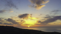 Sunset over Gozo (Lawrence OP) Tags: city sunset sea silhouette clouds coast malta shore gozo