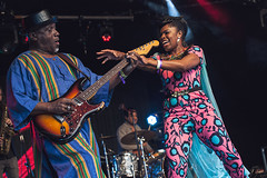 Ibibio Sound Machine @ Lunar Festival 3 (preynolds) Tags: festival concert raw dof singing guitar stage gig livemusic noflash singer electronic guitarist afrobeat mark2 stagelights tamron2470mm canon5dmarkii frontwomen counteractmagazine lunarfestival2016