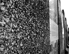 Chewing Gum Wall (katya.macleod) Tags: west east history germany wall chewinggum monochrome berlinwall