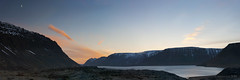 nightfall over Iceland's Arnarfjordur (lunaryuna) Tags: panorama moon nature beauty season landscape coast iceland spring solitude fjord lunaryuna stillness nightfall lastlight westfjords mountainrange stitchedpano seasonalchange northwesticeland lightmood