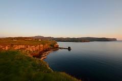 Sunset at Fiskavaig (rustyruth1959) Tags: blue light sunset sea sky beach nature water rock landscape gold bay coast scotland nikon isleofskye outdoor hill cliffs highland shore rockformation sigma1020mm nikond3200 ardtreck fiskavaig