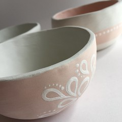 Pinchpots (Lorrie Whittington) Tags: ceramic handmade crafts clay pottery artisan pinchpots underglaze handbuild