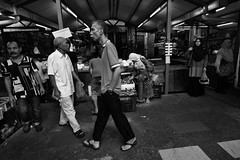 Mind your step (Light Engraver) Tags: pictures street old travel people wet photography still market culture streetlife vegetable best malaysia local kualalumpur kl bnw chowkit