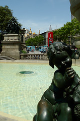 A fountain in Plaa de Catalunya (4String) Tags: calella barcelona spain holiday2016 fountain cherub plaadecatalunya