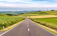 Deutschland (Henk Verheyen) Tags: road green clouds germany landscape deutschland weg landschap