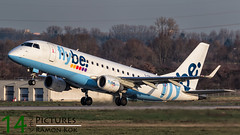 Flybe E175 (Green 14 Pictures ) Tags: airplane airport aircraft aviation air airline airways dusseldorf airlines airfield embraer dus flybe avgeek eddl e175 ejet dusairport avporn
