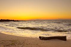 Another sunrise over Azov sea (Anton Vakulenko) Tags: morning sea summer sky orange nature stone sunrise landscape coast sand surf waves nopeople ukraine seasore azovsea darktable sedovo