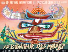 Affiche Festival Au Bonheur des Mômes - 2016