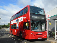E40D Banditry U4 (ultradude973) Tags: bus metroline te1999 sn12egy u4 uxbridge hayes prologis park hz greenford g enviro400 alexander dennis