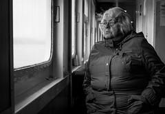 2016_222 (Chilanga Cement) Tags: fuji fujix100t x100t xseries x100s x100 lady woman nervous gazing window lismore ferry calmac passenger sailing boat sea scotland candid portrait concern worry stress coat