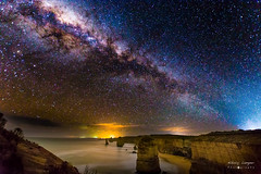 Milky way over the 12 apostles (NikolajAlexanderPics) Tags: 12apostles australia star milkyway longexposure sky night beautiful sea water victoria clear rocks dark nikon d7200 sigma1020