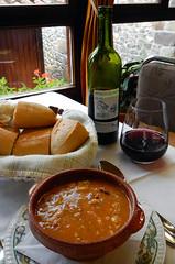 The 'sopa de ajo' (garlic soup) from the 'Menu del dia' in Pido, Spain (albatz) Tags: spain northernspain picosdeeuropa restaurant menudeldia pido threecourse meal soup village