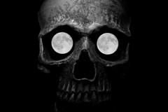 Moons In The Man (TheMothStorm) Tags: full moon skull moonintheman maninthemoon moonbeameyes incameramultiexposure notaphotoeditingcreation