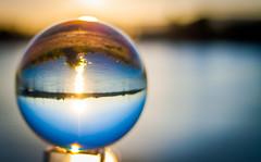 _MG_0373 (AdamFejes) Tags: glass globe glassglobe pointofview light sun summer blackandwhite bw colour city budapest danube sunset