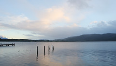Dusk at Lake Te Anu (Star Watcher) Tags: newzealand southisland teanu lake water clouds dusk