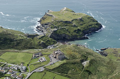 Camelot Castle Hotel plus remains of monastery and castle - Tintagel aerial view (John D F) Tags: pl340dq camelotcastle hotel tintagel coast coastline cornwall cornish aerial aerialphotography aerialimage aerialphotograph aerialimagesuk aerialview droneview d7000 nikon monastery castle duchyofcornwall englishheritage