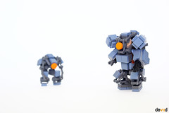 Space Troopers SB-3 and SB-1 drone (Devid VII) Tags: devid devidvii exploration sand blue power space troopers sb3 sb1 drone lego moc mech mecha drones military crew