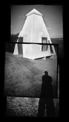 The Bell House (Chuck Baker) Tags: alternative analog architecture blackandwhite building blackwhite believe banner camera door darkroom doors eastman film kodak lomography lomo life love lens monochrome maine notechography old outdoor photography photograph plastic peace panorama rural rangefinder surreal toy tmax viewfinder windows window wet water bell tower