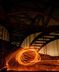 Warm Embrace (Pixel-Poison Photography) Tags: peppermillroadbridge baltimore longexposure nightphotography nikond300s nikon1755mm28 bridges