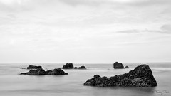 Grey day (Tdyy) Tags: nikon d7200 black white bw nikkor 18140 minimalist nz newzealand christchurch canterbury southpacific pacific landscape sea ocean rock long exposure nd filter 169